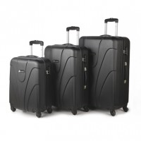 Set 3 Trolere ABS Space Negru